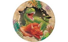 צלחות קטנות דגם דינוזאור
