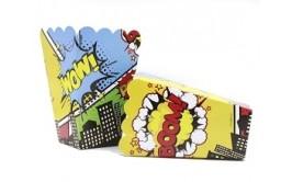 קופסאות לפופקורן וחטיפים גיבורי על קומיקס