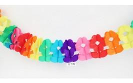 שרשרת קישוט נפתחת צבעונית דגם פרחים