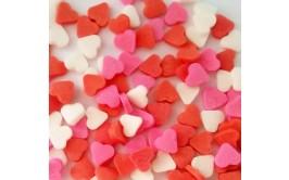 סוכריות לעוגה לבבות אדום ורוד לבן
