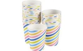 מארז 25 כוסות פסים צבעוני