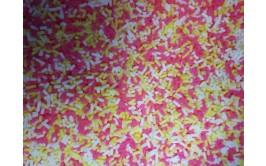 נטיפי סוכר במרקם סופט  צבע ורוד צהוב לבן
