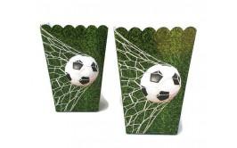 מארז קופסאות פופקורן/ממתקים דגם כדורגל ירוק