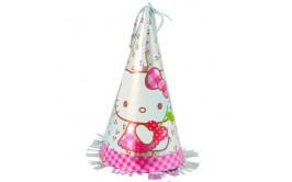 מארז כובעי יום הולדת מטאליים דגם הלו קיטי