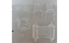 תבנית פלסטיק לשוקולד דגם בר מצווה