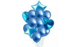 בוקט 14 יחידות בלונים כחול