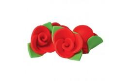 ורדים גדולים צבע אדום מבצק סוכר