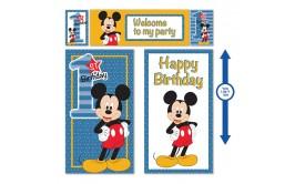 סט פוסטרים 5 חלקים ענק דגם  מיקי יום הולדת שנה