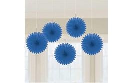 מארז 5 מניפות לתלייה צבע כחול