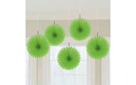מארז 5 מניפות לתלייה צבע ירוק