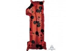 בלון מיילר ענק ספרה 1 מיקי מאוס אדום