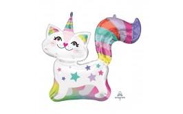 בלון הליום 31 בצורת חתול עם קרן