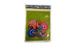 מארז 5 שקיות יום הולדת עם ידיות דגם פרפרים ירוק