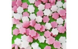 סוכריות פרחים צבע מאכל טבעי ורוד לבן