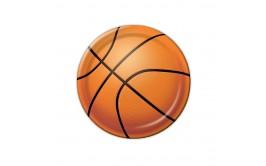 מארז 25 צלחות גדולות דגם כדורסל