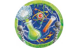 סט צלחות גדולות המדען החכם