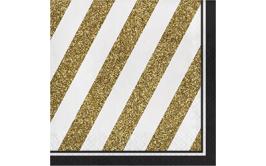 מארז מפיות שחור זהב אלגנט