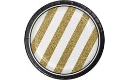 צלחות קטנות שחור זהב אלגנט