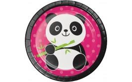 מארז צלחות קטנות דובי פנדה