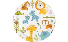 מארז צלחות גדולות חיות מצוייר