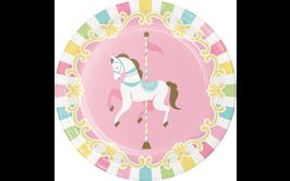 צלחות קטנות קרוסלת סוסים מרהיבה