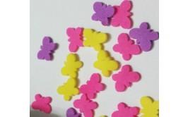סוכריות לעוגה פרפרים סגול ורוד צהוב