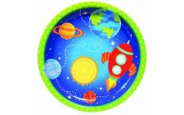 מארז צלחות גדולות חלל מצויר