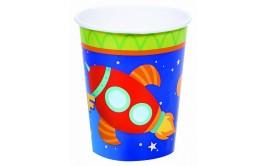 מארז כוסות חלל מצויר