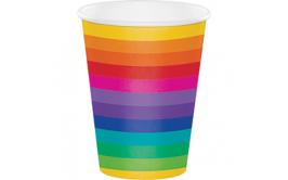 סט כוסות שתייה חמה/קרה צבעי הקשת