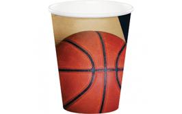 סט כוסות שתייה חמה/קרה כדורסל