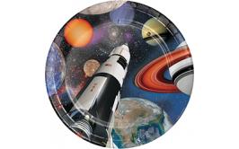 סט צלחות גדולות הרפתקה בחלל