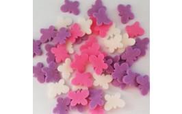 סוכריות לעוגה פרפרים סגול ורוד לבן