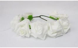 זר פרחים לבן גדול