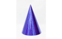 """מארז 12 כובעי קונוס גובה 20 ס""""מ צבע כחול"""