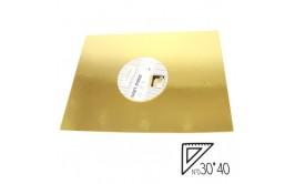 """תחתית לעוגה גודל 30*40 ס""""מ זהב"""