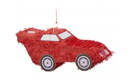 פיניאטה מכונית אדומה+מקל