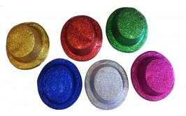 כובעי מסיבות איכותיים מנצנצים מבחר צבעים