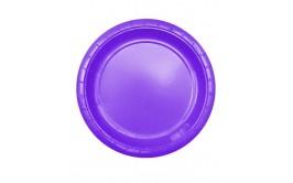 מארז 24 צלחות גדולות צבע סגול