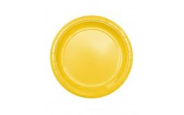 מארז 24 צלחות גדולות צבע צהוב