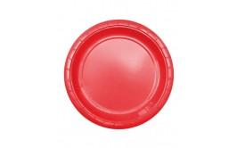 מארז 24 צלחות גדולות צבע אדום