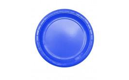 מארז 24 צלחות גדולות צבע כחול