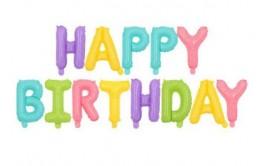 מארז בלונים לניפוח עצמי צבעי מיקס פסטל happy birthday