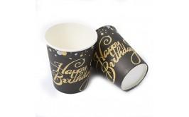 מארז כוסות שחור זהב