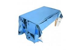 מפת שולחן מטאלית כחולה