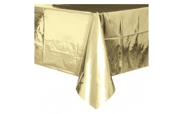 מפת שולחן מטאלית זהב