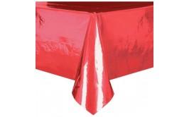 מפת שולחן מטאלית אדומה