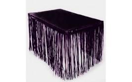 חצאית שולחן פרנזים מטאלי שחור