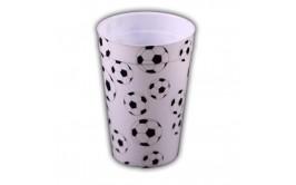 כוס פלסטיק דגם כדורגל