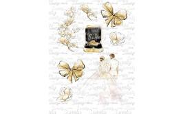 טרנספר לעוגה חתונה טבעות 875
