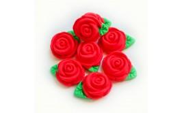 סט ורדים אדומים מבצק סוכר